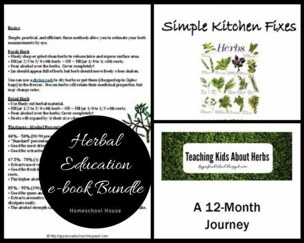 herbs herbal homeschool unit study lesson plans bundle