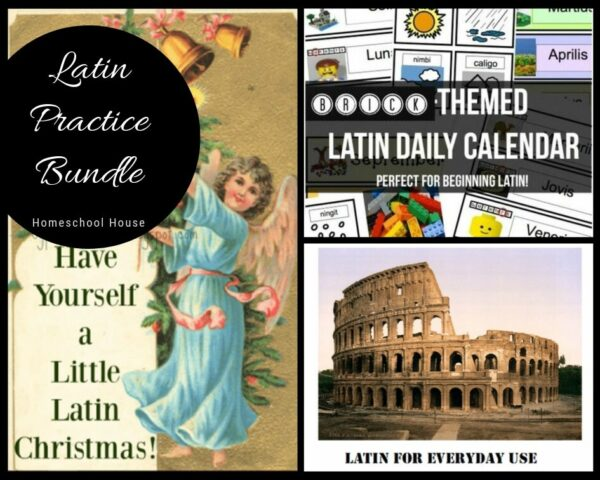 latin middle school high foreign language bundle homeschool activity